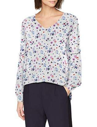 Tom Tailor Casual Women's 1008064 Blouse, (White Floral Design 15677), 14 (Size: )