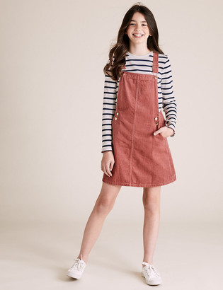Marks and Spencer 2 Piece Cord Pinafore Outfit (6-16 Years)