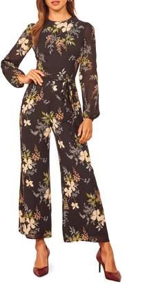 Reformation Franny Floral Long Sleeve Jumpsuit