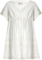 RED Valentino Lace-trimmed Swiss-dot cotton dress