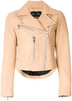 Proenza Schouler Motorcycle jacket - women - Lamb Skin/Viscose - 4