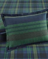 Martha Stewart Collection Warwick Cotton Stripe Flannel Pair of Standard Shams, Created for Macy's