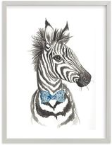 Pottery Barn Kids Dapper Zebra Wall Art by Minted(R) 16x20