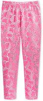 Hello Kitty Metallic-Print Leggings, Toddler Girls (2T-4T) & Little Girls (2-6X)