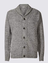 M&S CollectionMarks and Spencer Textured Shawl Cardigan