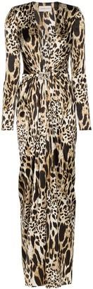 Alexandre Vauthier Leopard Print Gown