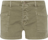 J Brand Brona Cotton-blend Shorts - Sage green