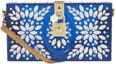 Dolce & Gabbana Embellished Plexiglass Box Clutch, Blue
