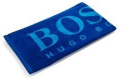 HUGO BOSS Logo beach towel in cotton velvet