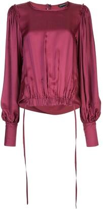 Ann Demeulemeester elasticated hem blouse