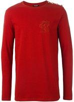 Balmain lion emblem sweatshirt