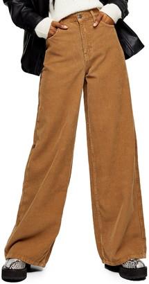 Topshop Ted Corduroy Wide Leg Pants