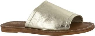 Bella Vita Leather Slide Sandals - Ros-Italy
