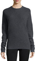 A.L.C. Peter Ribbed Open-Back Sweater, Flannel