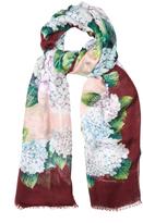 Dolce & Gabbana Hydrangea-print silk scarf