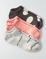 American Eagle Outfitters AE Kitty Dot Shortie Socks 3-Pack