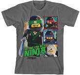 Bioworld Gray LEGO® Ninjago Black Tee - Boys