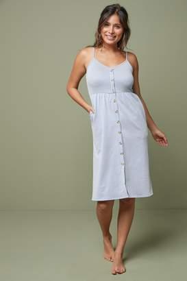 Next Womens Blue/White Stripe Strappy Dress - Blue