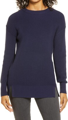 Caslon Crewneck Rib Sweater