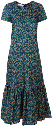 La DoubleJ Floral Print Tiered Dress