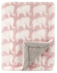 Hudson Baby Blanket with Sherpa Back, One Size