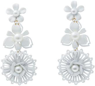 Elizabeth Cole Coated Gold-plated Faux Pearl Earrings