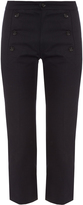 Etoile Isabel Marant Macey cropped boot-cut drill trousers