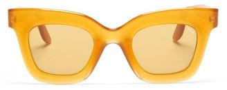 Lapima - Lisa X Oversized Square Acetate Sunglasses - Light Yellow