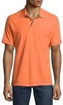 Robert Graham Messenger Heather Polo Shirt, Orange/Black