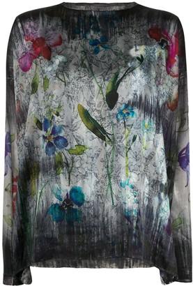 Avant Toi Floral Print Jumper