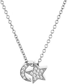 Aqua Sterling Silver Moon & Star Pendant Necklace, 15 - 100% Exclusive
