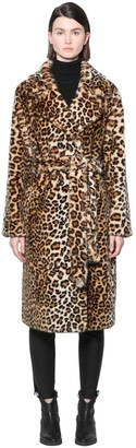 Stand FAUSTINE PRINTED FAUX FUR COAT