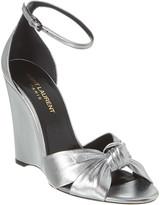 Saint Laurent Lila 105 Leather Wedge Sandal