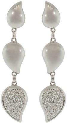 Tamara Comolli 18kt white gold Signature Wave diamond drop earrings