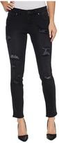 Jag Jeans Mera Skinny Ankle Platinum Denim in Black with Destruction Women's Jeans
