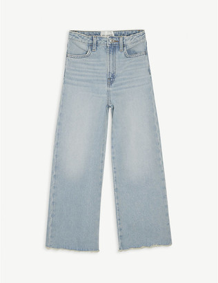 LES COYOTES DE PARIS Daria wide-legged cotton denim jeans 8-18 years