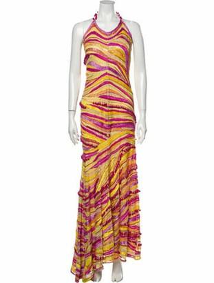 Naeem Khan Silk Long Dress Pink