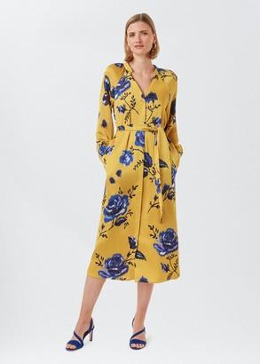 Hobbs Rosalind Floral Midi Dress