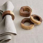 west elm Wood Slice Napkin Rings (Set of 4)