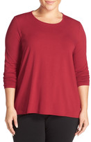 Eileen Fisher High/Low Tunic (Plus Size)