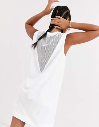 Love Moschino speed sleeveless dress with mesh panel