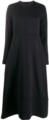 Jil Sander sweatshirt panelled dress