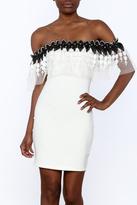 Valentine Crochet Trim Dress