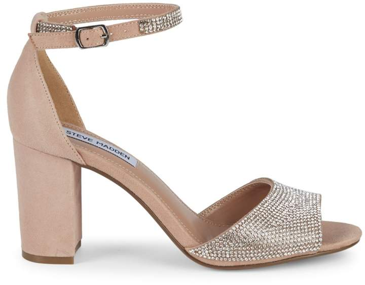 c29d8dfcd42 Mae Chunky Heel Jeweled Leather Sandals