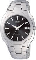 Citizen Eco-Drive Titanium Date Bracelet Mens Watch