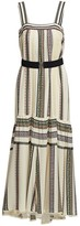 Derek Lam Silk Printed Tank Midi Dress
