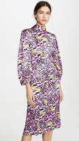 Marni Long Sleeve Printed Dress