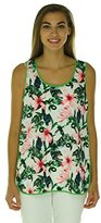 Vince Camuto Women's Sleeveless Jungle Lily Tank