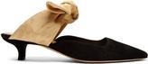 The Row Coco moire-tie suede pumps