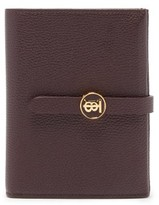 Burberry Tb-monogram Grained-leather Wallet - Womens - Brown